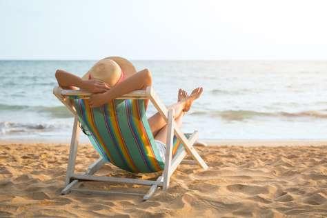 Buchen ohne Sorgen Strand Liege